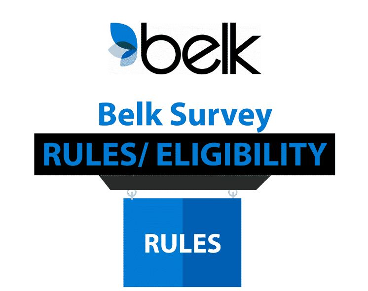 belk survey rules