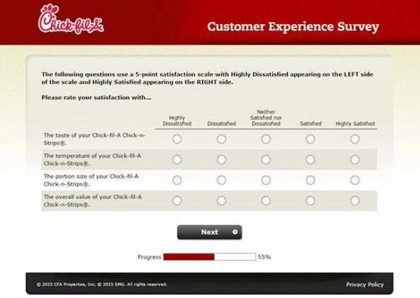 chickfila survey