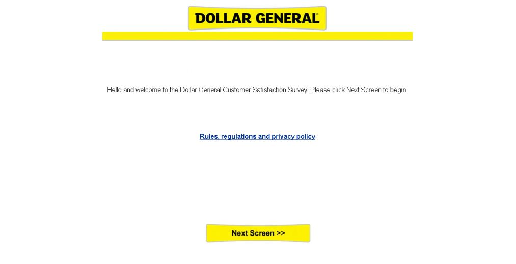 dollar general survey rules & regulation