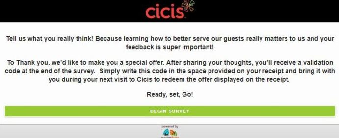 Cici's Pizza Survey feedback guide
