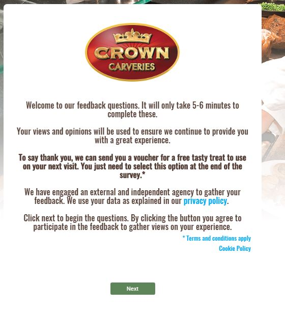Crown Carveries Customer Satisfaction Survey - www.crowncarveries ...