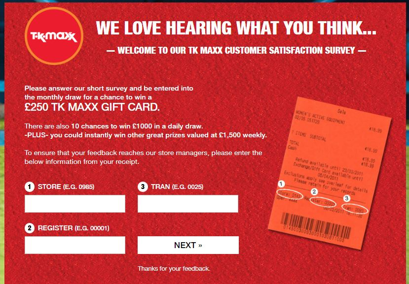 TK Maxx Customer Satisfaction Survey