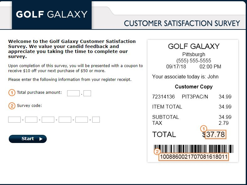 Give Us Your Feedback | Golf Galaxy