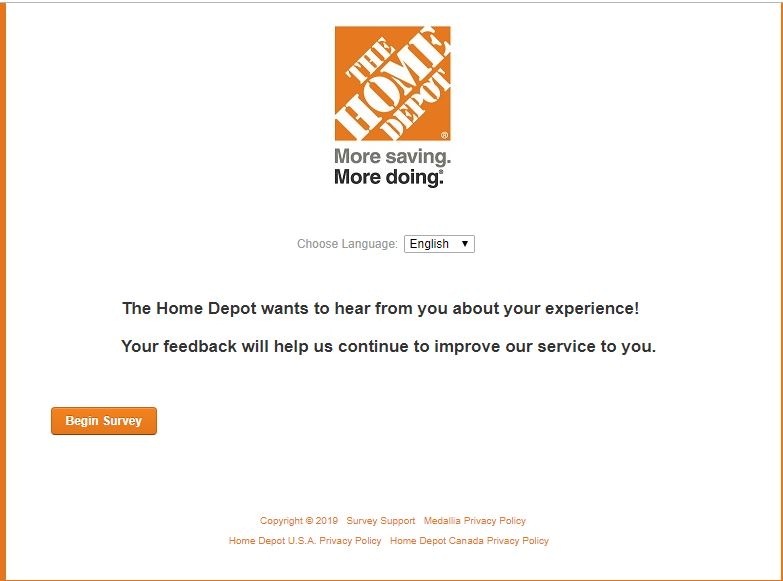 Homedepot® Survey - Official Customer Experience Survey 2019