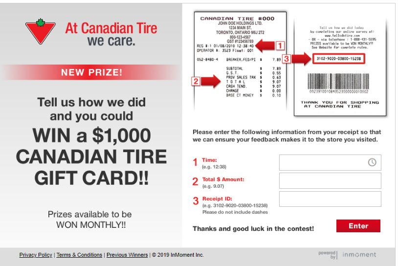 Tell Canadian Tire in its Customer Satisfaction Survey to win $1000 ...