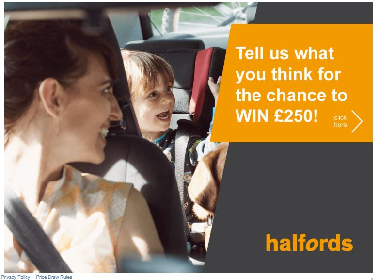 halfords customer feedback