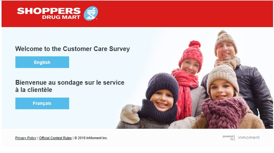 Shoppers Drug Mart Customer Care Survey