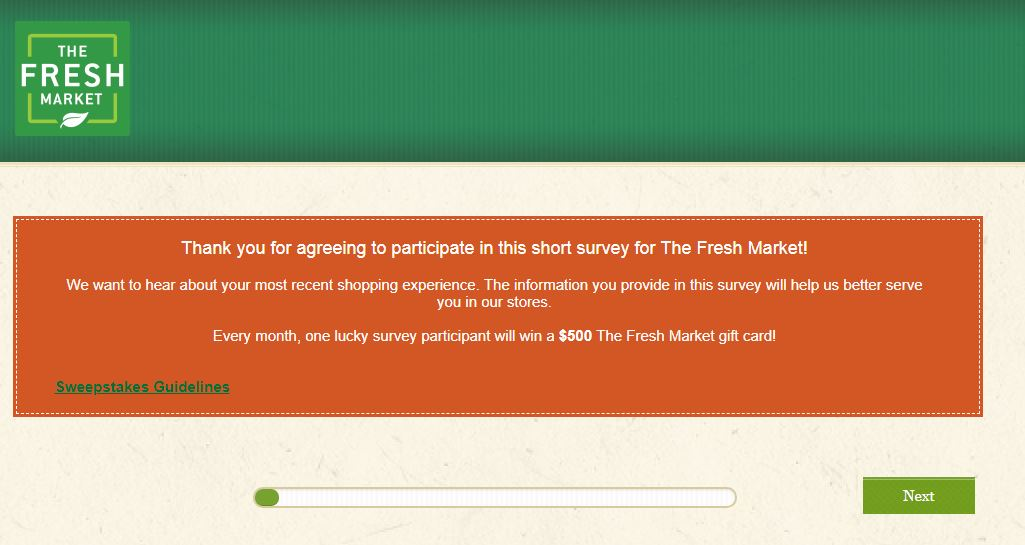 fresh market survey