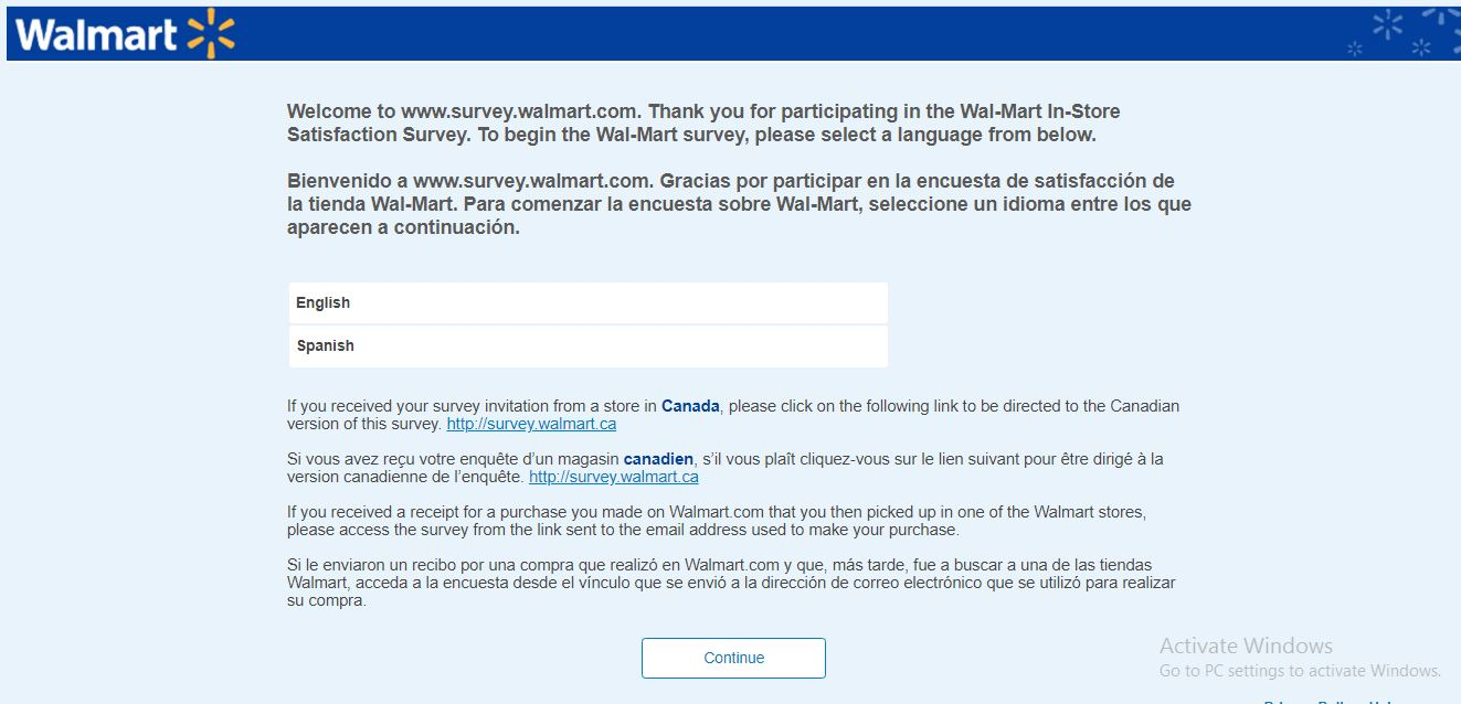 www.survey.walmart.com | Take Walmart® Survey To Win $1,000 Prize