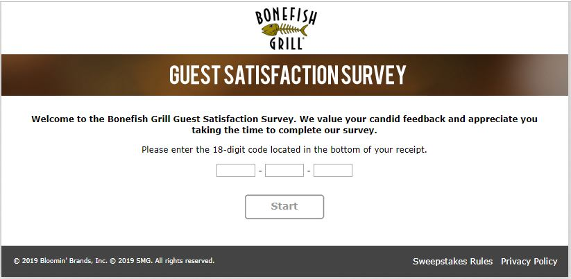 Bonefish Grill Survey 🤑🤑 www.bonefishexperience.com - Customer ...