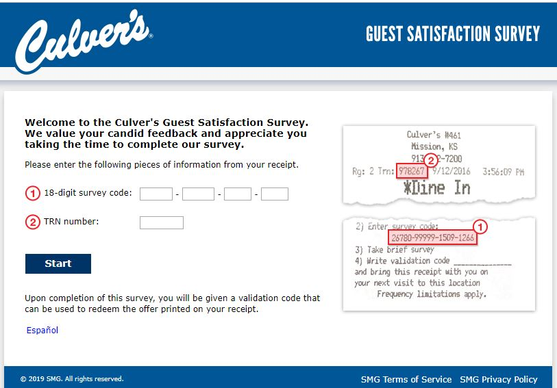 Culver's Guest Satisfaction Survey -