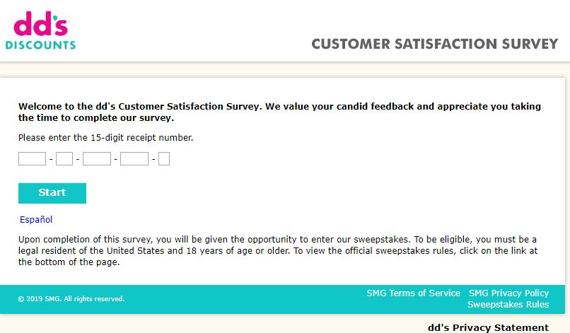 DD's Discounts Customer Satisfaction Survey |