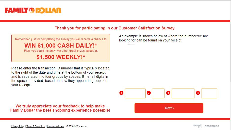 Family Dollar Customer Survey