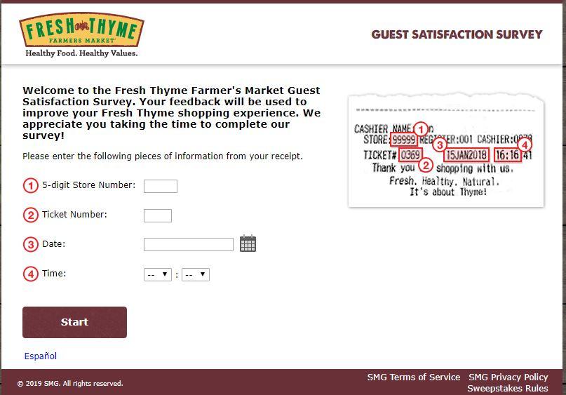 Fresh Thyme Guest Satisfaction Survey -