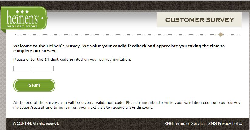 Heinen's Customer Satisfaction Survey |