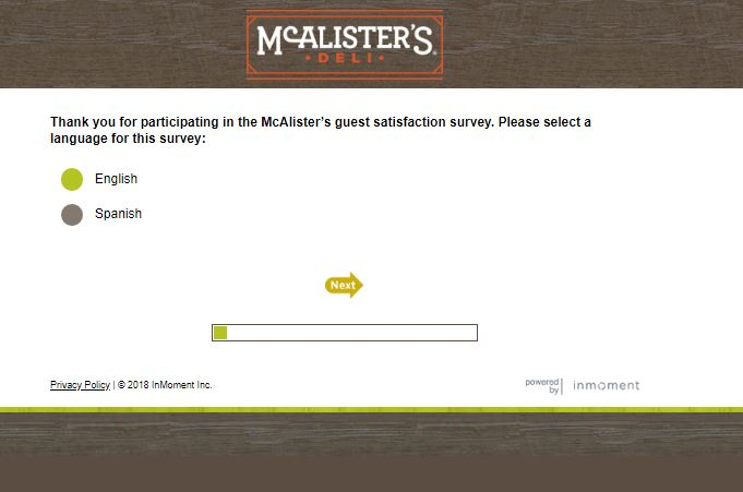 Talktomcalisters.com - McAlister's Deli Survey - Free Cookie! 2019