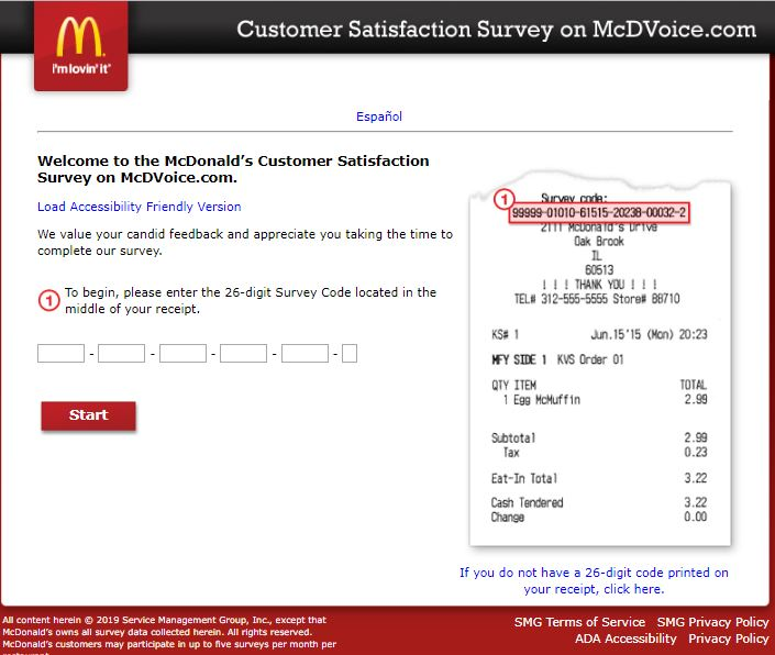 McDVoice Survey – McDonald's Customer Satisfaction Survey ...
