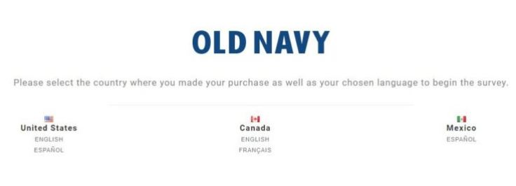 Feedback4OldNavy.com ― Take Old Navy® Survey ― 10% Off Coupon