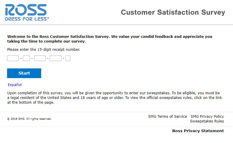 Tell Ross Dress for Less Feedback Customer Survey ...