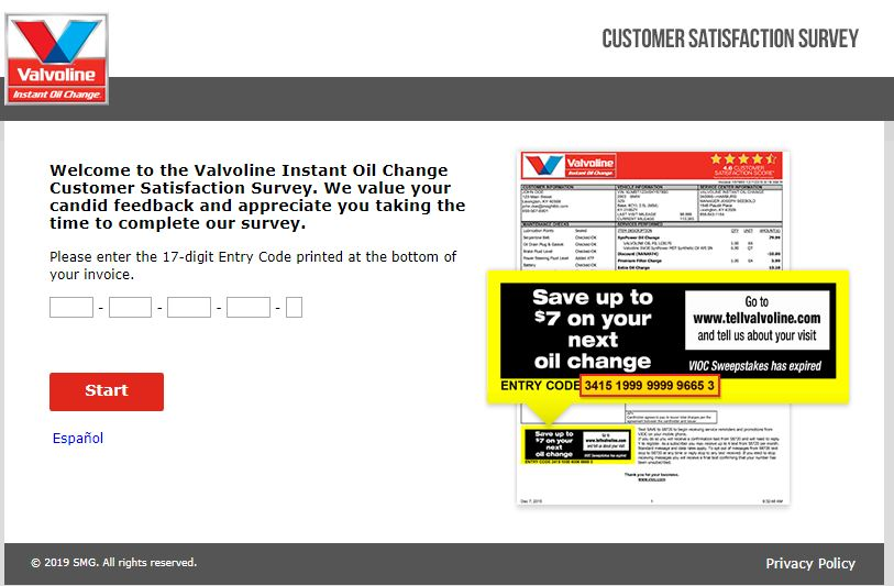 Privacy Policy - Valvoline Instant Oil Change Customer Satisfaction ...