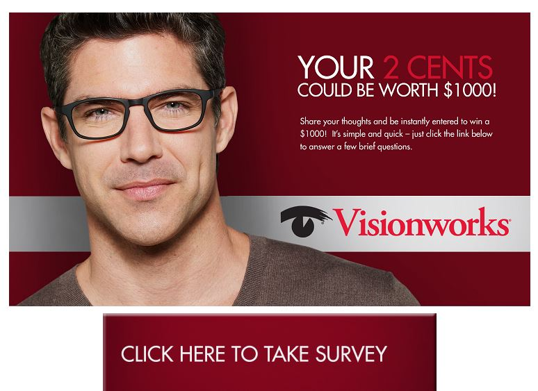 Enter Visionworks Eyewear Survey to Win $1000 - Save FAQS
