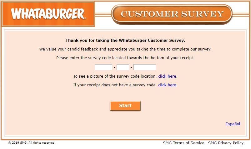 Whataburger Customer Survey -