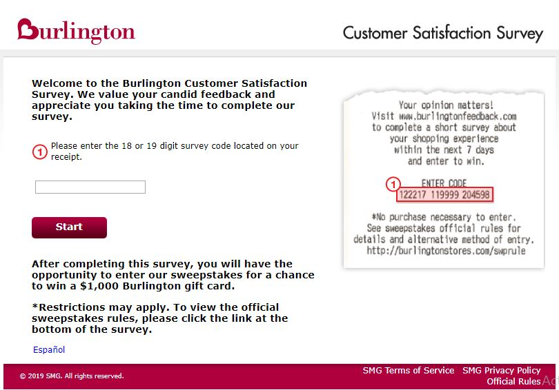 www.burlingtonfeedback.com ― Take Burlington® Survey ― Win $1000