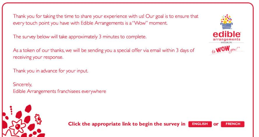 Ediblearrangements.com/wow/ - Arrangements Survey - Customer ...