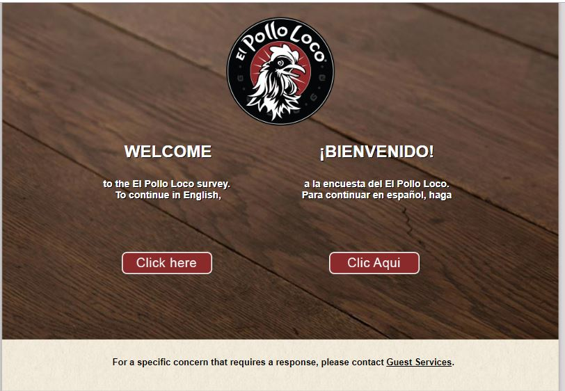 Welcome to El Pollo Loco Guest Survey