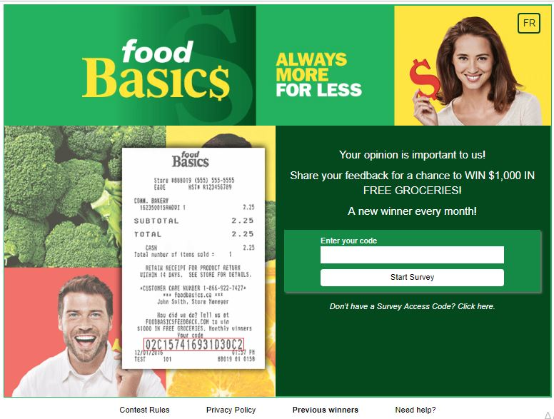 Food Basics Feedback Survey Contest 2018: Win $1000 in Gift cards ...