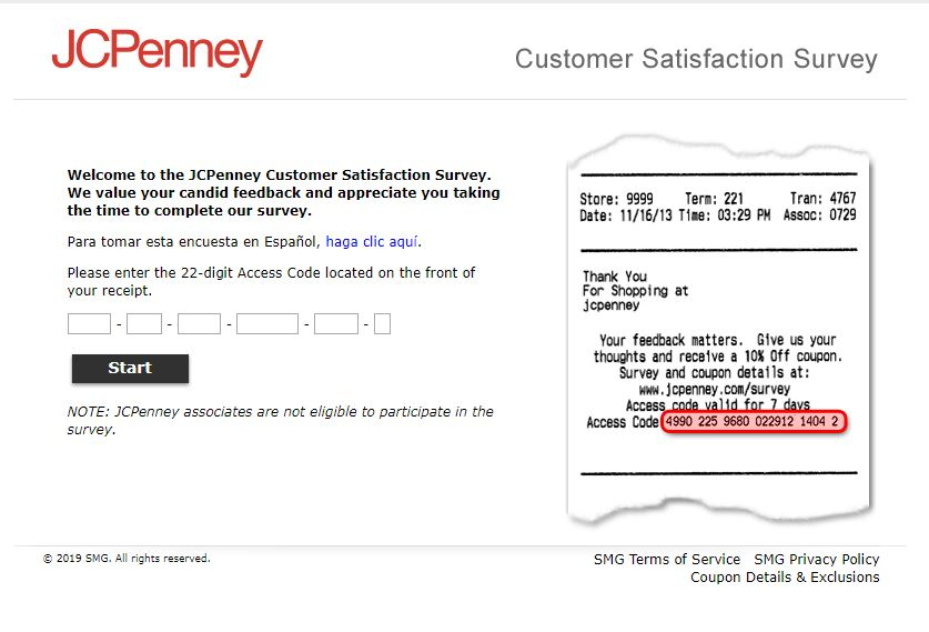 JCPenney Customer Satisfaction Survey Coupon Details & Exclusions