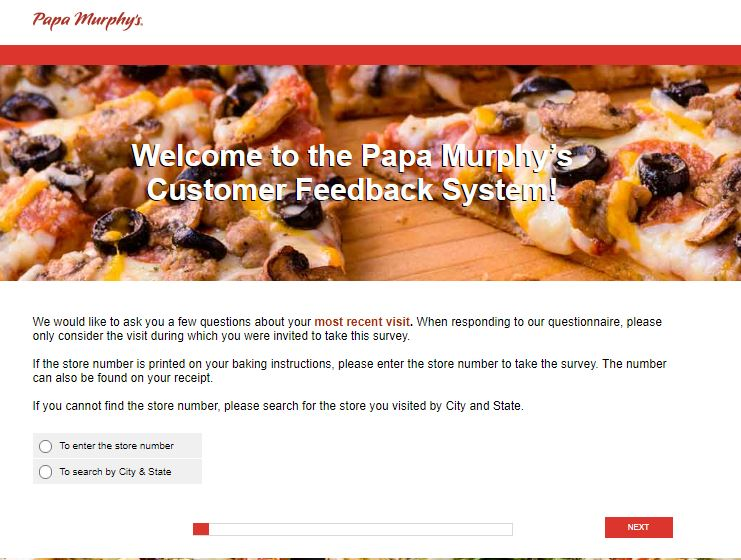 Papa Murphy's Customer Feedback Survey -