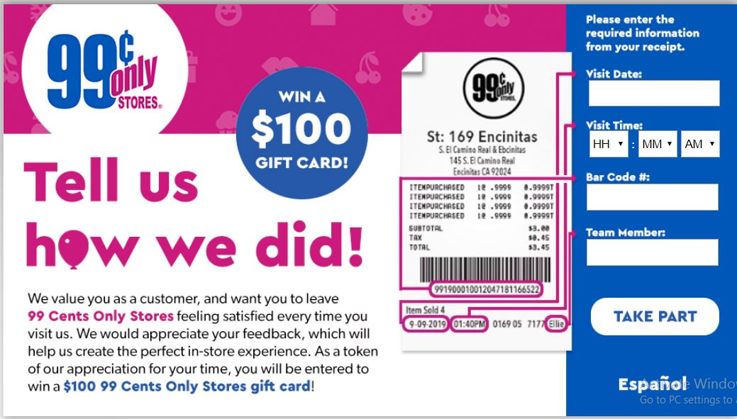 Tell 99 Cents Only Stores Customer Satisfaction Survey ...