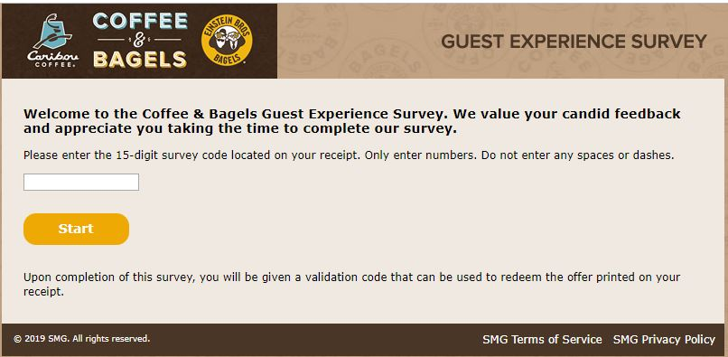 Caribou Coffee Customer Satisfaction Survey -