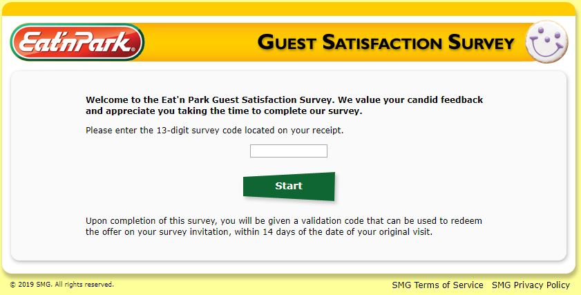 www.tellenp.com - Eat'n Park Guest Satisfaction Survey - 2 Lead In