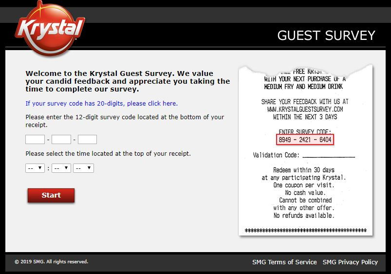 Krystal Guest Survey -