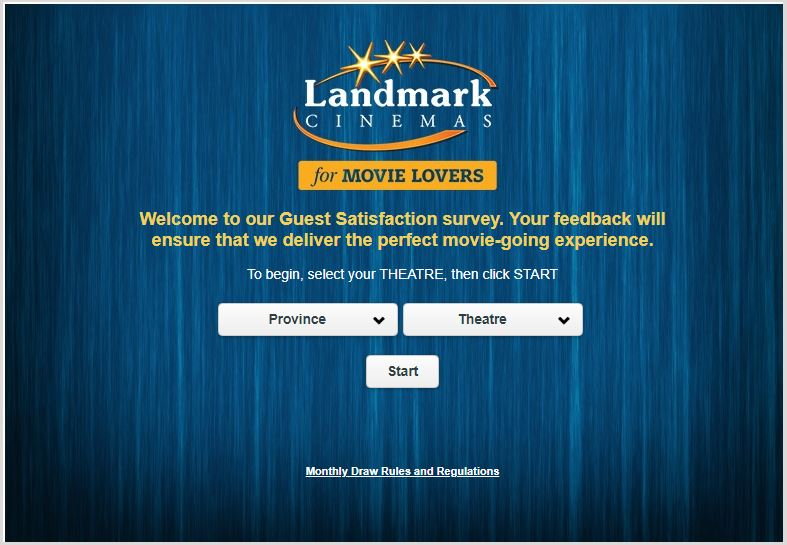 Landmark Cinemas Guest Feedback Survey Contest ...