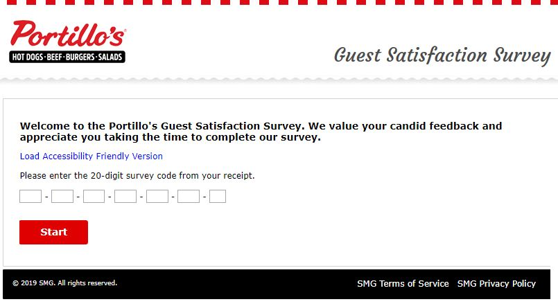 【Portillo's Survey 】 At www.tellportillos.smg.com