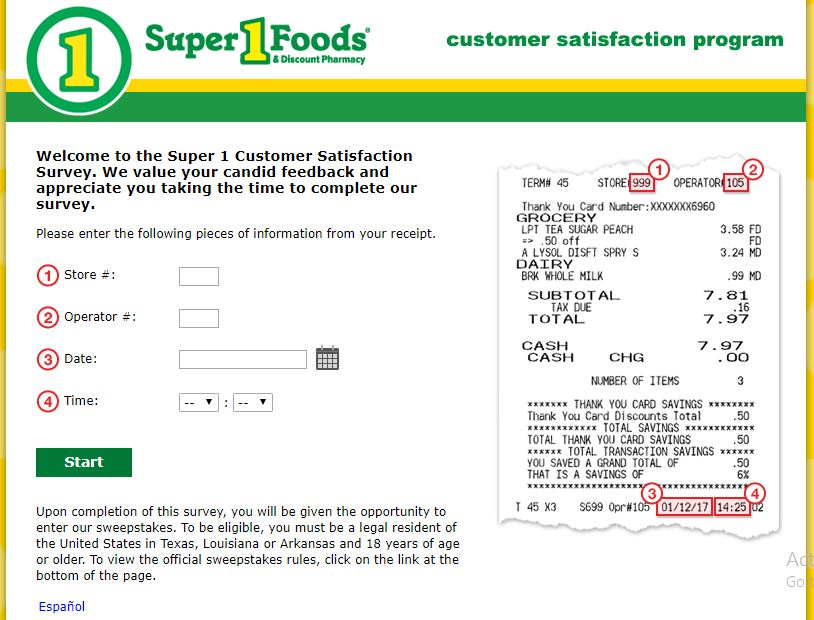 Share your feedback with Super One Foods to help the company ...