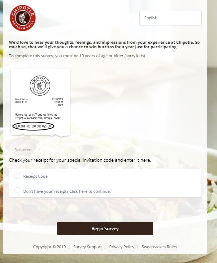 www.chipotlefeedback.com – Chipotle Receipt Survey - Save FAQS