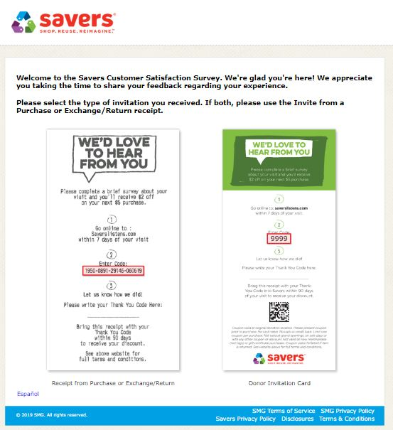 Savers Survey: www.saverslistens.com @ Savers Listens Customer ...