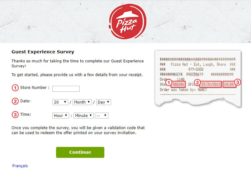 Pizza Hut Canada survey