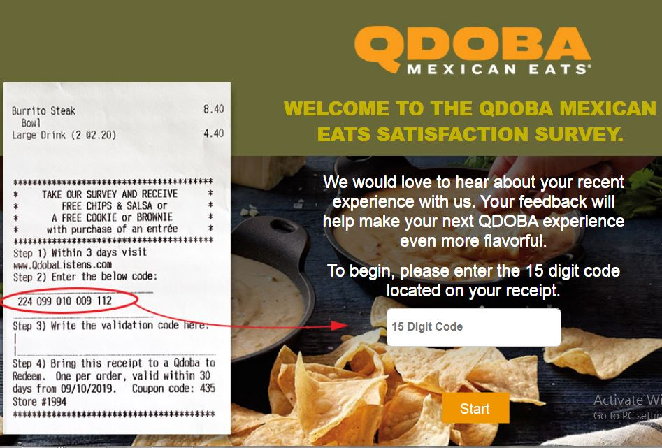 Qdoba Mexican Grill survey